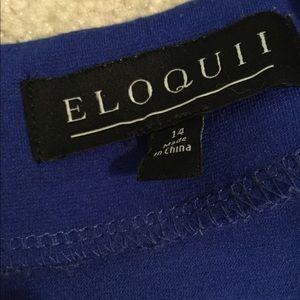 Eloquii Tops - Eloquii Sexy Blue Peplum Top Shirt Blouse size 14